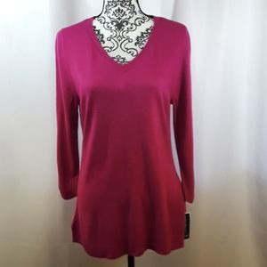 Karen Scott Petite V-Neck Sweater